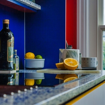 Recycled glass worktops