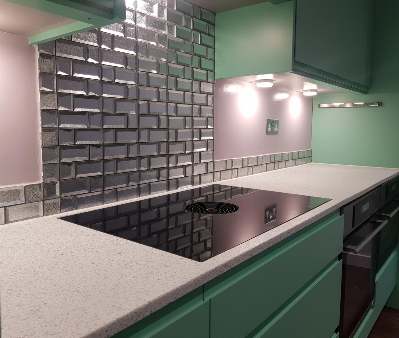 recycled glass kitchen worktop